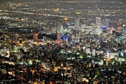 藻岩山からの札幌夜景2