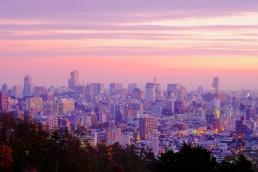 札幌朝焼け