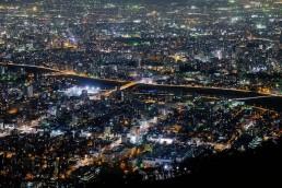藻岩山からの札幌夜景1